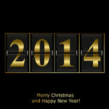 New Year counter in gold design. Vector eps10 illustration Stock Photography