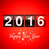 New Year Counter. Happy new year background with 2016 counter Royalty Free Stock Photo