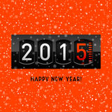 New year 2015 counter Stock Images