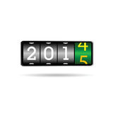 New year counter for 2015 illustration. New year counter for 2015 art vector illustration Stock Image