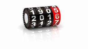 2015 New Year Counter. 2016 Odometer. New Year concept illustration. Render image Stock Illustration
