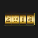New Year counter 2014. Shiny New Year counter 2014 vector illustration