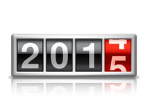 New Year counter. 2015 New Year counter on white background Royalty Free Stock Image