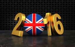 New Year 2016. With country flag Royalty Free Stock Photos