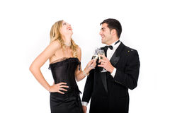 New year couple Royalty Free Stock Photography