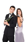 New year couple Stock Images