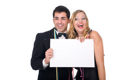 New year couple Stock Image