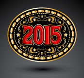 2015 new year Cowboy belt buckle design. Eps available Stock Photos