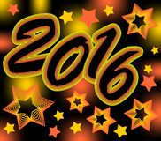 New year crazy background in vivid contrasting colors Stock Photos