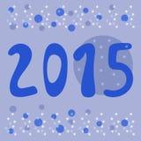 New year 2015 creative cartoon card design. Stock Photography