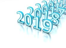 New Year 2019 Creative Design Concept. 3D Rendered Image stock illustration