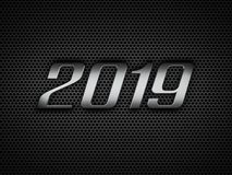 New Year 2019 Creative Design Concept. 3D Rendered Image Royalty Free Stock Photography
