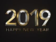 New Year 2019 Creative Design Concept. 3D Rendered Image Stock Images