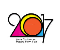 2017 new year creative design on white background. For your greetings card, flyers, invitation, posters, brochure, banners, calendar Royalty Free Stock Photo