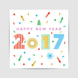 2017 new year. Creative design for your greetings card, flyers, invitation, posters, brochure, banners, calendar Stock Photo