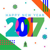 2017 new year. Creative design for your greetings card, flyers, invitation, posters, brochure, banners, calendar Stock Images