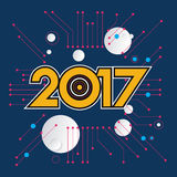 2017 new year creative design for your greetings card, flyers, invitation, posters, brochure, banners, calendar. Vector template 2017 and Happy New Years Royalty Free Stock Photography
