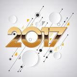 2017 new year creative design for your greetings card, flyers, invitation, posters, brochure, banners, calendar. Vector template 2017 and Happy New Years Royalty Free Stock Photos