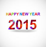 New year 2015 creative greeting card  Stock Images