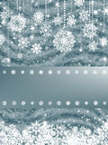 New year and cristmas card (Blue Fir). EPS 8 Royalty Free Stock Photo
