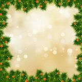 New year and cristmas card.  Stock Image