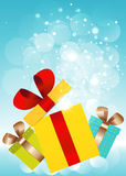 New Year and Cristmas card.Vector EPS 10. Royalty Free Stock Image