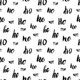 New Year and Cristmas seamless pattern, with Ho Ho Ho hand drawn letters, retro, vintage Seamless Pattern. Background Vector Illus. Tration Stock Image