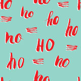 New Year and Cristmas seamless pattern, with Ho Ho Ho hand drawn letters, retro, vintage Seamless Pattern. Background Vector Illus Royalty Free Stock Photography