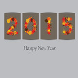 New Year 2015. Cute and abstract card on New Year 2015 Stock Photography