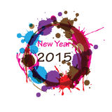 New Year 2015. Cute and abstract card on New Year 2015 Stock Images