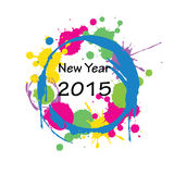 New Year 2015. Cute and abstract card on New Year 2015 Royalty Free Stock Photography