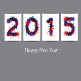 New Year 2015. Cute and abstract card on New Year 2015 Royalty Free Stock Images