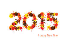 New Year 2015. Cute and abstract card on New Year 2015 Royalty Free Stock Photo