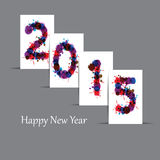 New Year 2015. Cute and abstract card on New Year 2015 Stock Photo
