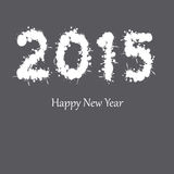 New Year 2015. Cute and abstract card on New Year 2015 Royalty Free Stock Photos