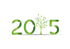 New Year 2015. Cute card on 2015 year with green sets royalty free illustration