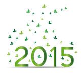 New Year 2015. Cute card on 2015 year with green sets Stock Photography