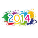 New Year 2014. Cute and colorful card New Year 2014 Royalty Free Stock Photography