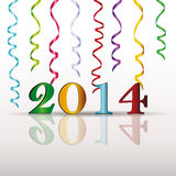 New Year 2014. Cute and colorful card on New Year 2014 Royalty Free Stock Photos