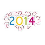 New Year 2014 Royalty Free Stock Photo