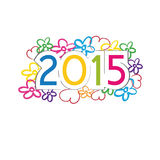 New Year 2015. Cute and colorful card on New Year 2015 Royalty Free Stock Photo