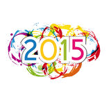 New Year 2015. Cute and colorful card on New Year 2015 Royalty Free Stock Photos