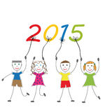New Year 2015 Stock Photography