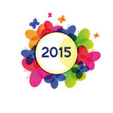 New Year 2015. Cute and colorful card on New Year 2015 Stock Image