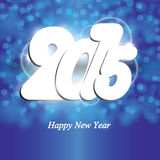 New Year 2015. Cute and colorful card on New Year 2015 Stock Photo