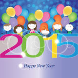 New Year 2015. Cute and colorful card on New Year 2015 Royalty Free Stock Image