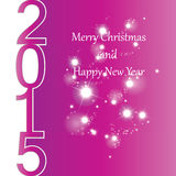 New Year 2015. Cute and colorful card on New Year 2015 Stock Images