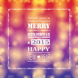 New Year 2015. Cute and colorful card on New Year 2015 Royalty Free Stock Photography