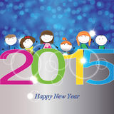 New Year 2015. Cute and colorful card on New Year 2015 Royalty Free Stock Images