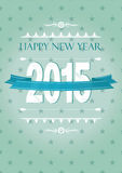 New Year 2015. Cute and colorful card on New Year 2015 Stock Photos